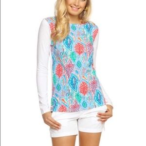 """LILLY PULITZER Bailey """"Let Minnow"""" long sleeve top"""